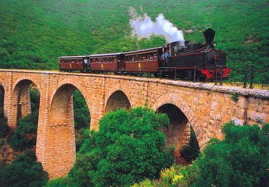 The small train of Pelion